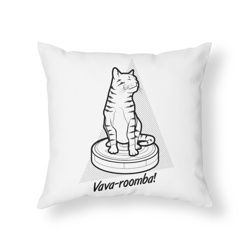 Vava-Roomba! Home Throw Pillow by mckibillo's Artist Shop