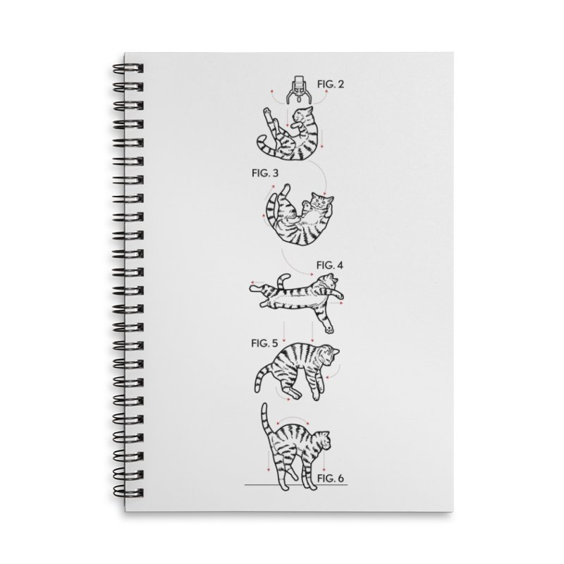 Hang In There! Accessories Lined Spiral Notebook by mckibillo's Artist Shop