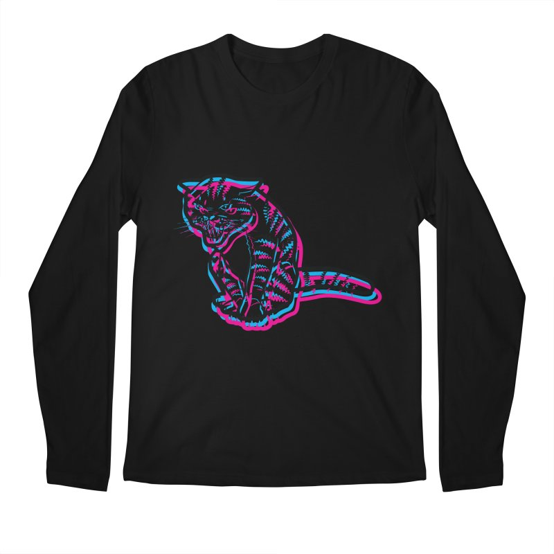 Scary Cat Men's Longsleeve T-Shirt by mckibillo's Artist Shop