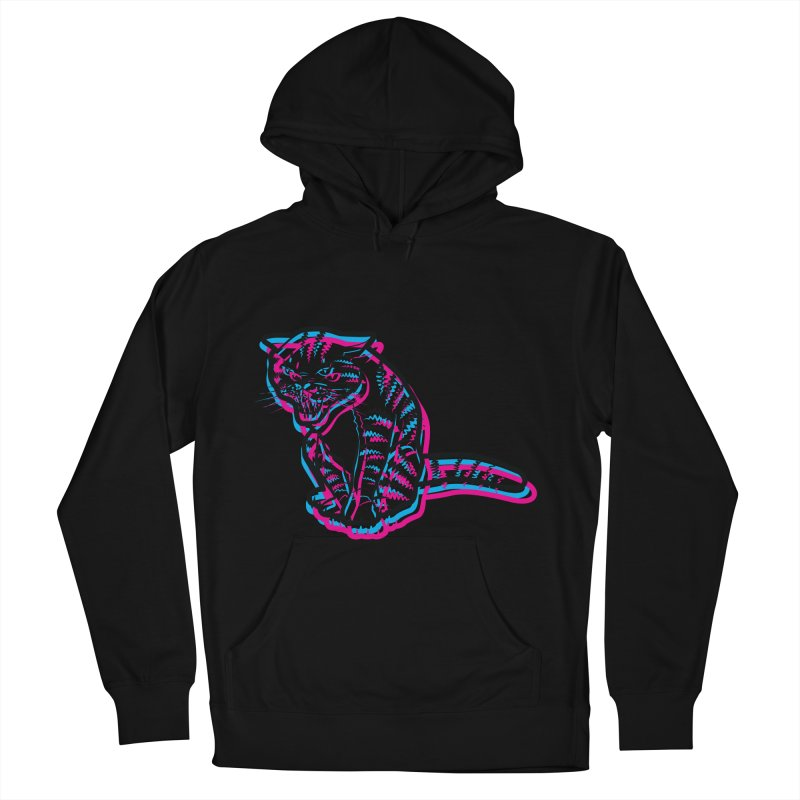 Scary Cat Men's Pullover Hoody by mckibillo's Artist Shop