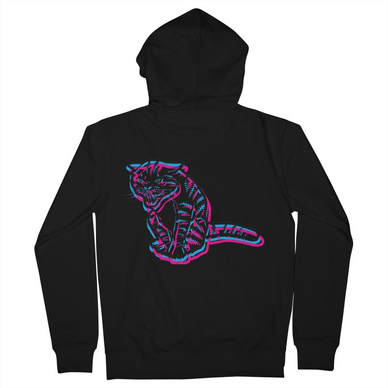 Scary Cat Men's Zip-Up Hoody by mckibillo's Artist Shop