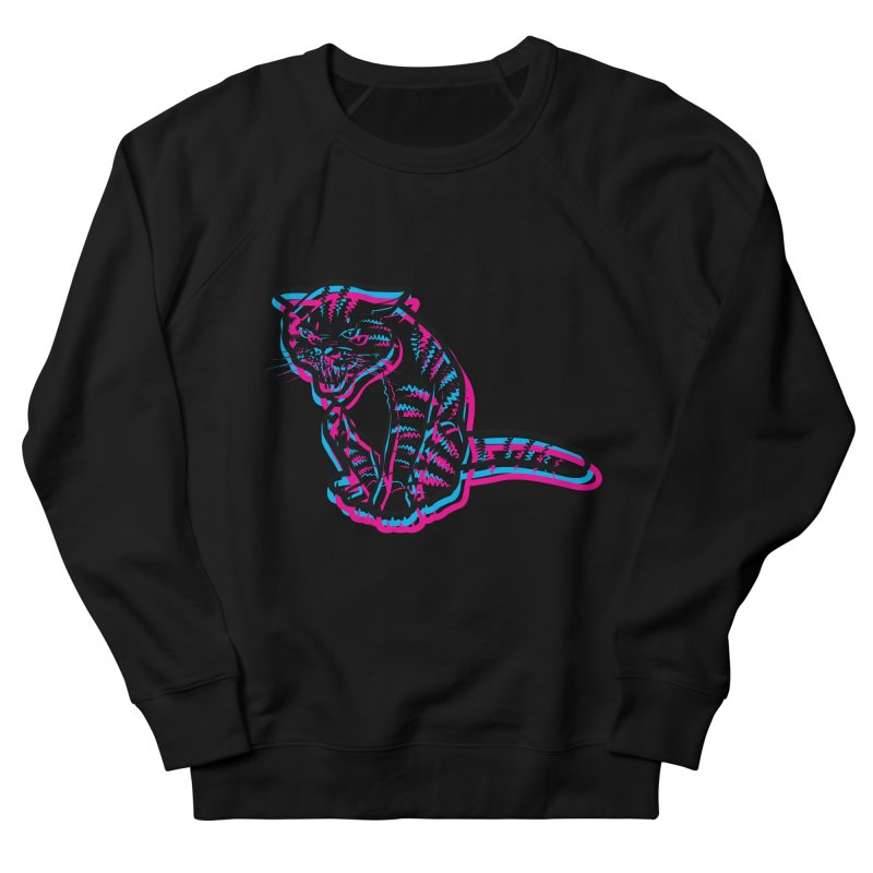 Scary Cat Women's French Terry Sweatshirt by mckibillo's Artist Shop