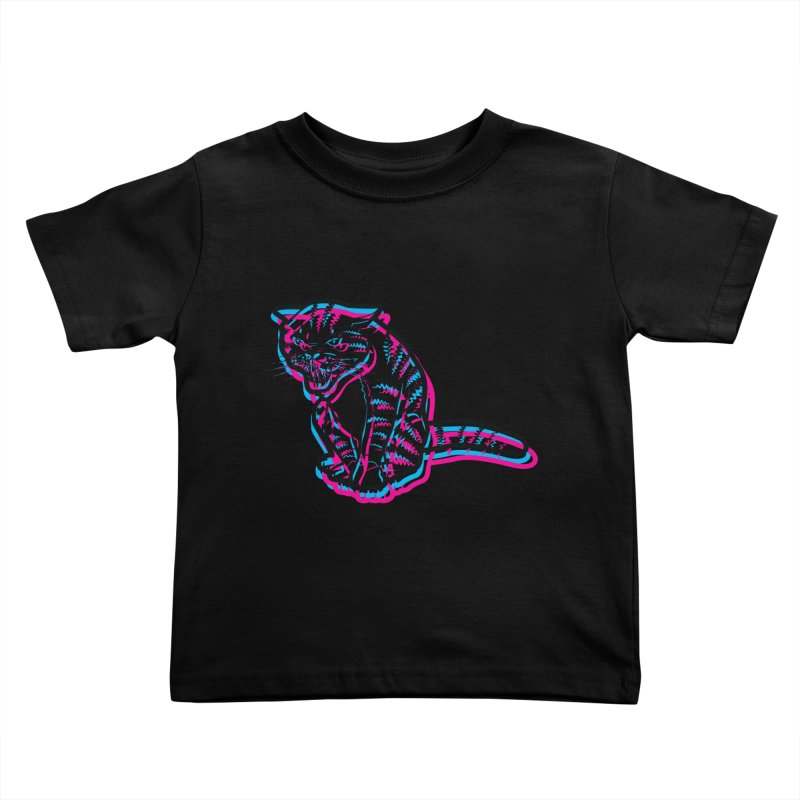 Scary Cat Kids Toddler T-Shirt by mckibillo's Artist Shop