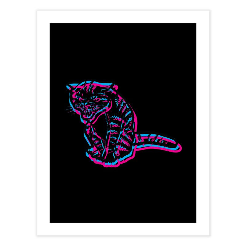 Scary Cat Home Fine Art Print by mckibillo's Artist Shop