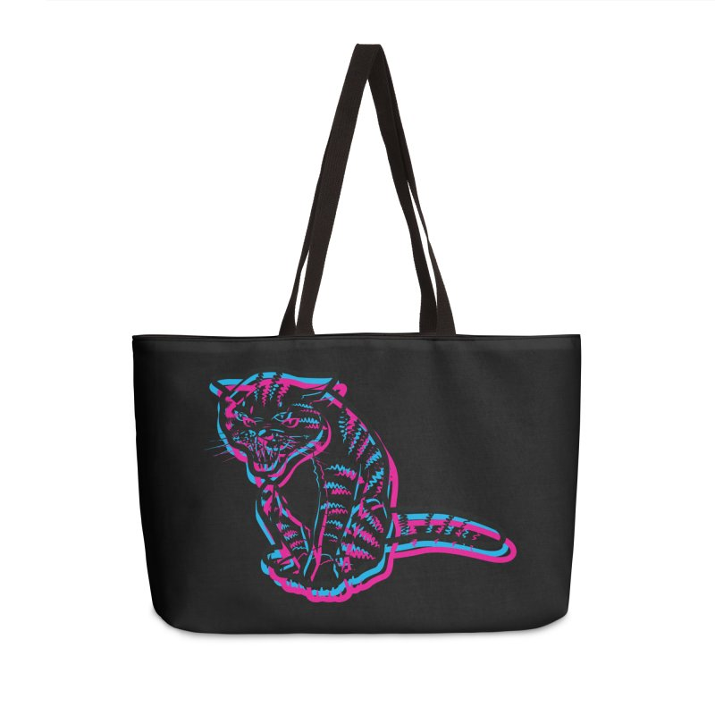 Scary Cat Accessories Weekender Bag Bag by mckibillo's Artist Shop