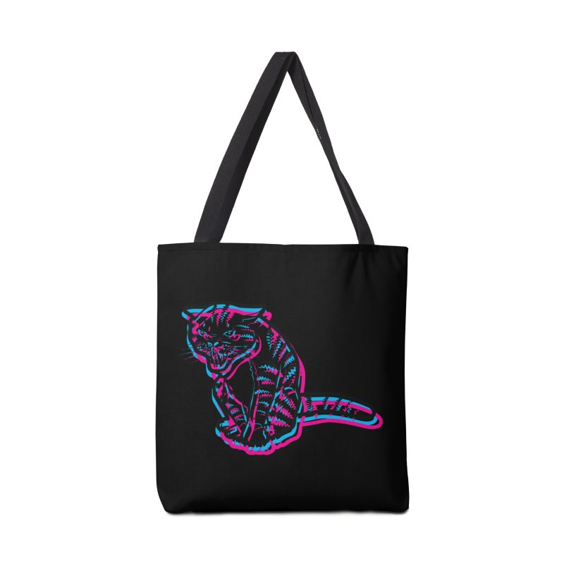 Scary Cat Accessories Tote Bag Bag by mckibillo's Artist Shop