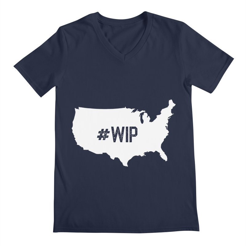 #WIP Men's V-Neck by mckibillo's Artist Shop
