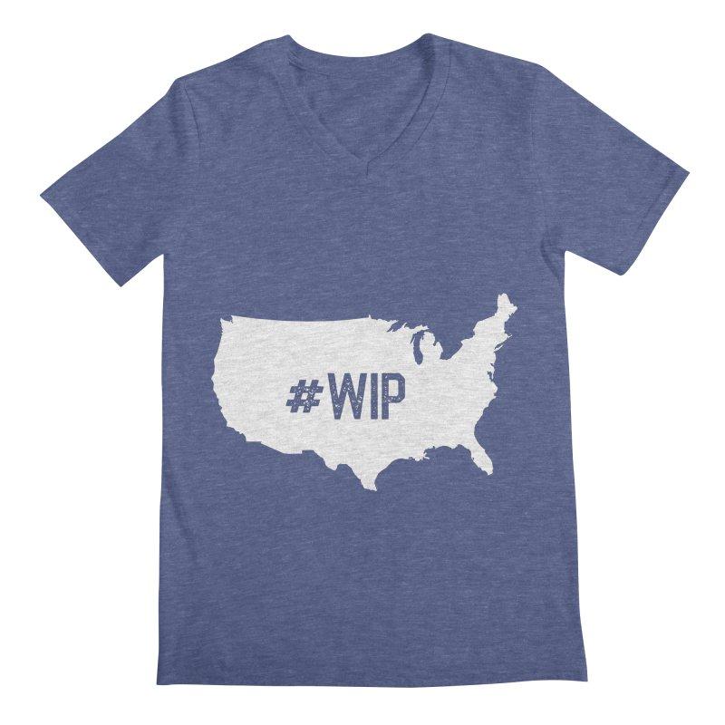 #WIP Men's Regular V-Neck by mckibillo's Artist Shop