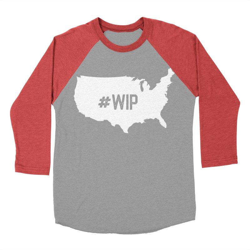 #WIP Women's Baseball Triblend Longsleeve T-Shirt by mckibillo's Artist Shop