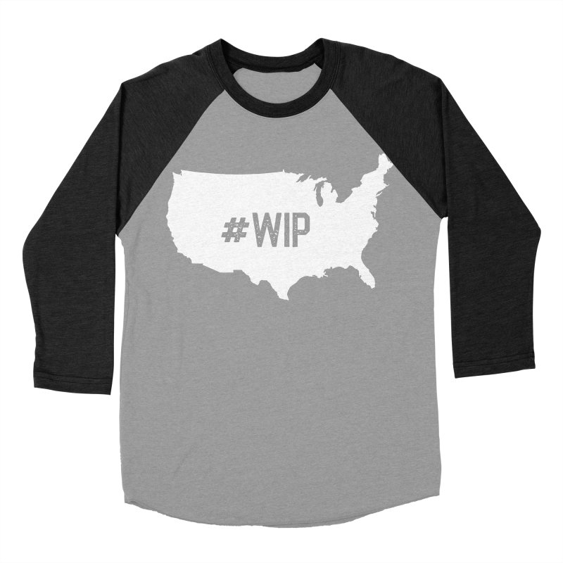 #WIP Women's Baseball Triblend Longsleeve T-Shirt by mckibillo's Artist Shop