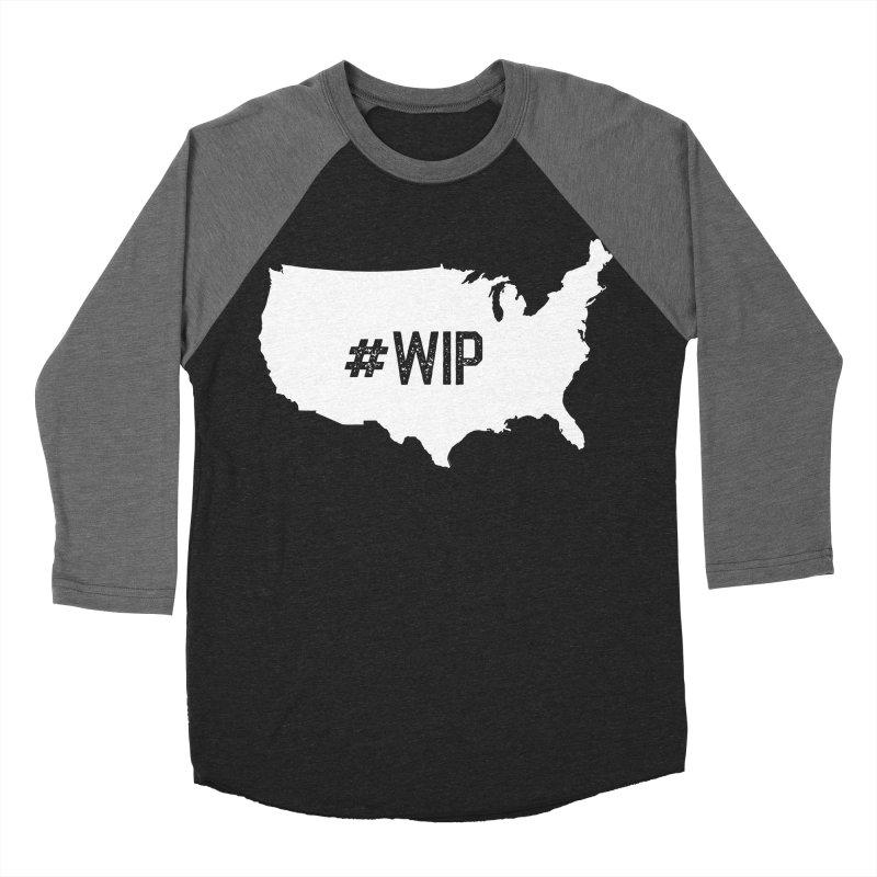 #WIP Men's Baseball Triblend Longsleeve T-Shirt by mckibillo's Artist Shop