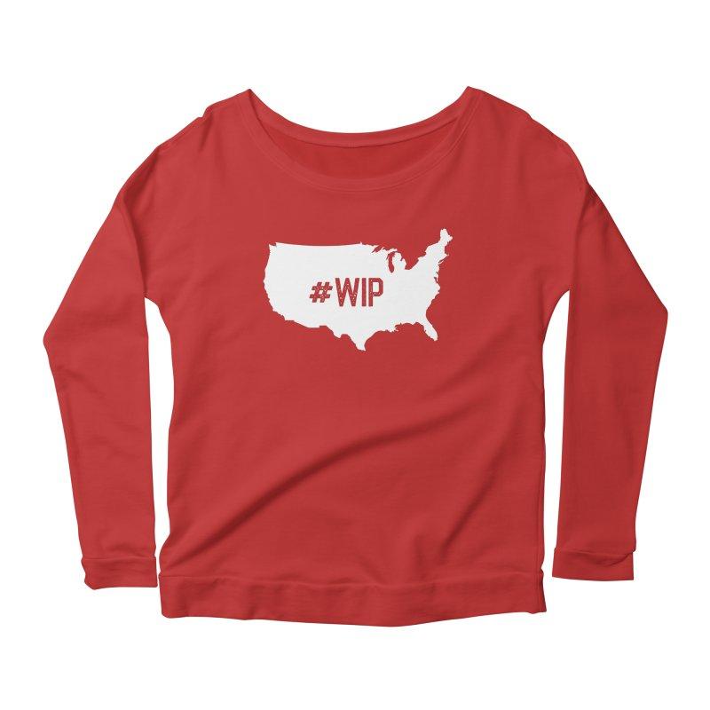 #WIP Women's Scoop Neck Longsleeve T-Shirt by mckibillo's Artist Shop