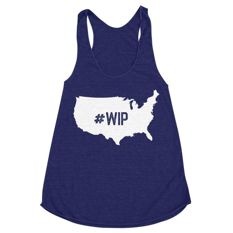 #WIP Women's Racerback Triblend Tank by mckibillo's Artist Shop