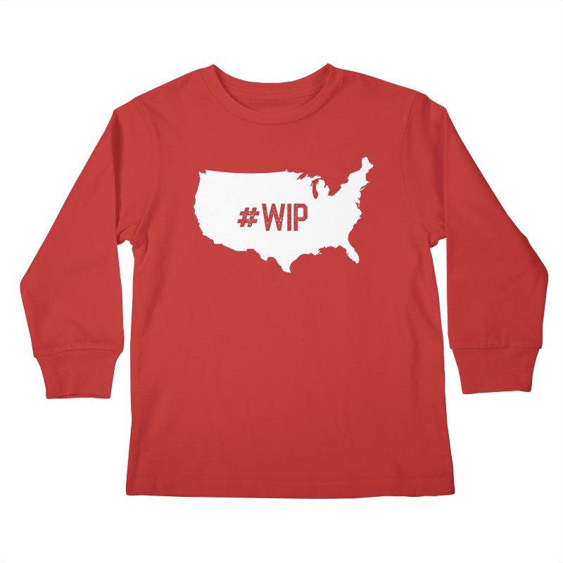 #WIP Kids Longsleeve T-Shirt by mckibillo's Artist Shop