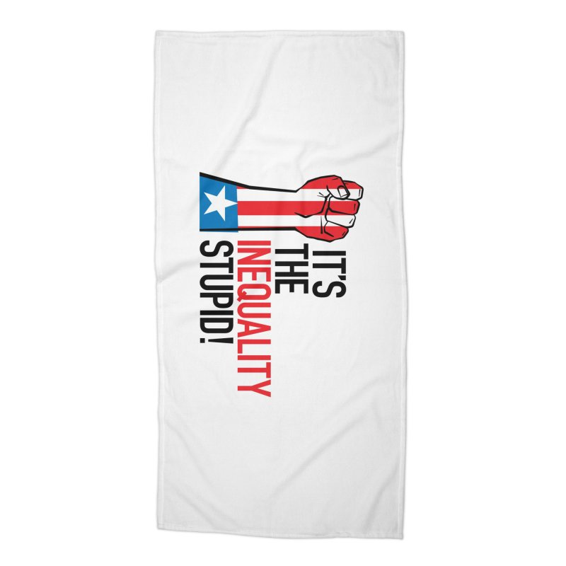 Inequality Accessories Beach Towel by mckibillo's Artist Shop