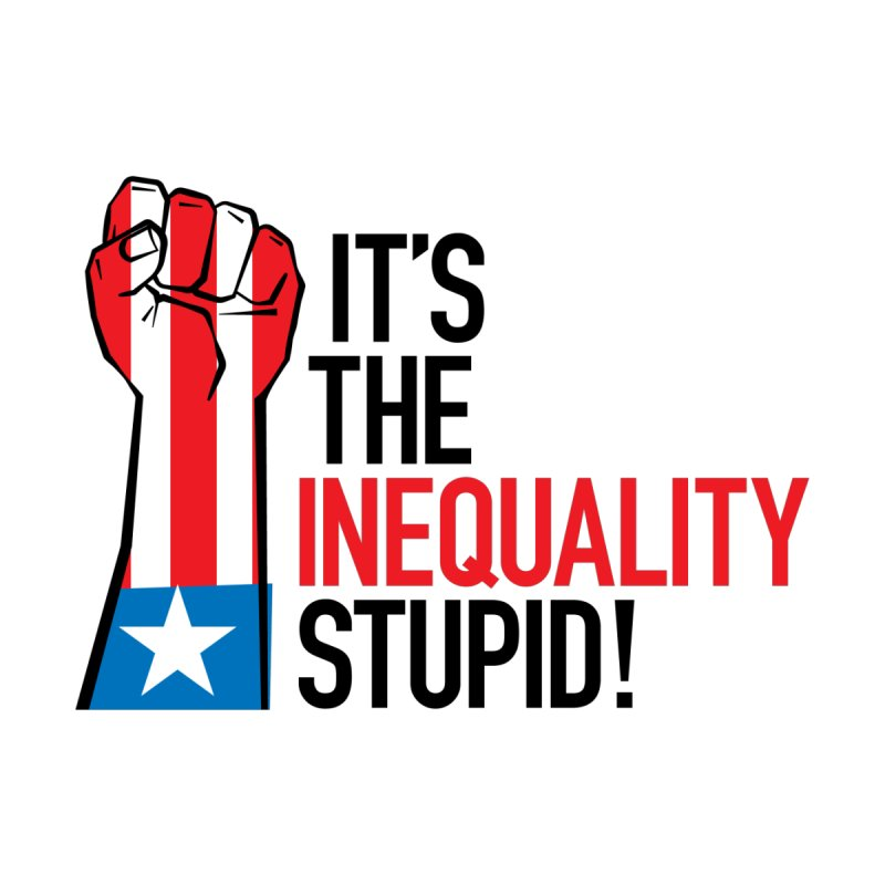Inequality Home Stretched Canvas by mckibillo's Artist Shop