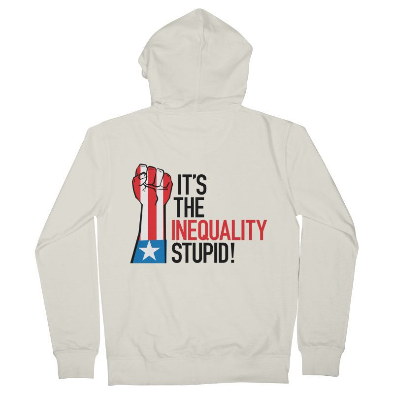 Inequality Men's French Terry Zip-Up Hoody by mckibillo's Artist Shop