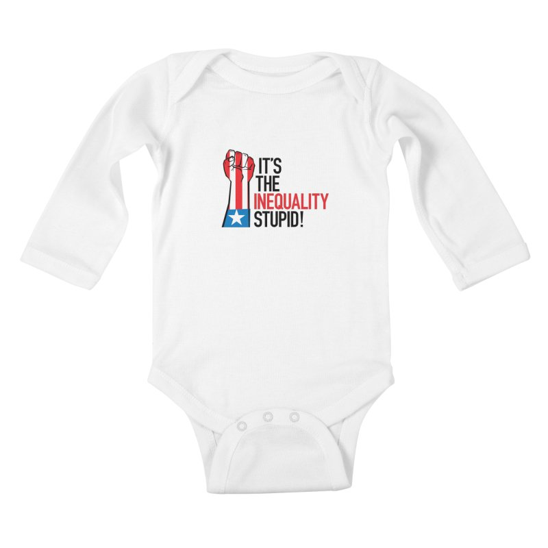 Inequality Kids Baby Longsleeve Bodysuit by mckibillo's Artist Shop