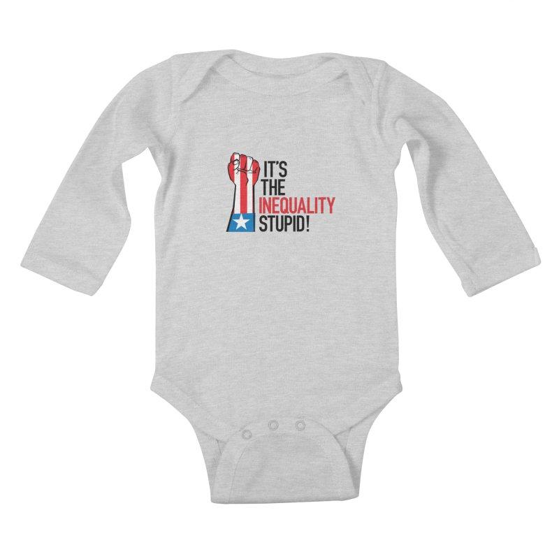 Inequality Kids Baby Longsleeve Bodysuit by mckibillo's Artist Shop