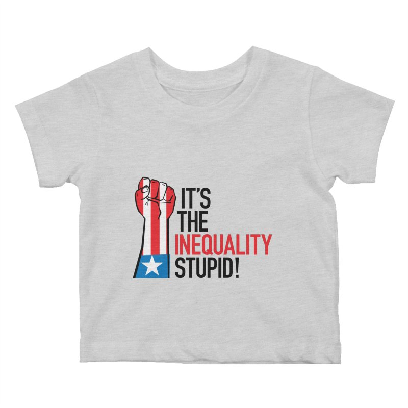 Inequality Kids Baby T-Shirt by mckibillo's Artist Shop