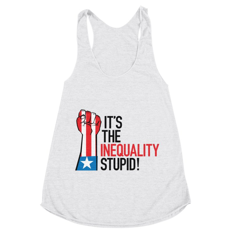 Inequality Women's Racerback Triblend Tank by mckibillo's Artist Shop