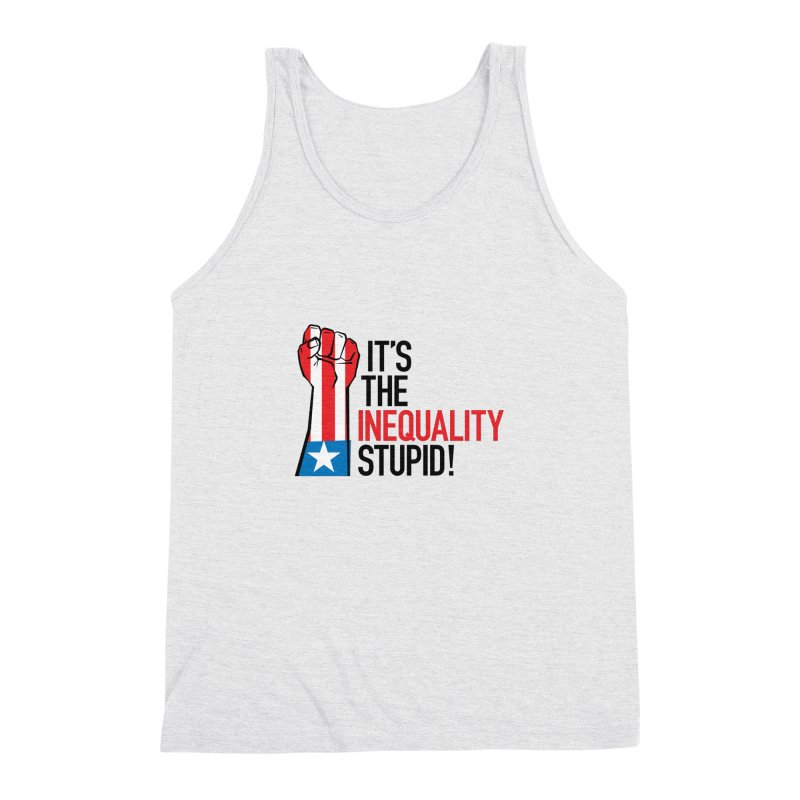 Inequality Men's Triblend Tank by mckibillo's Artist Shop