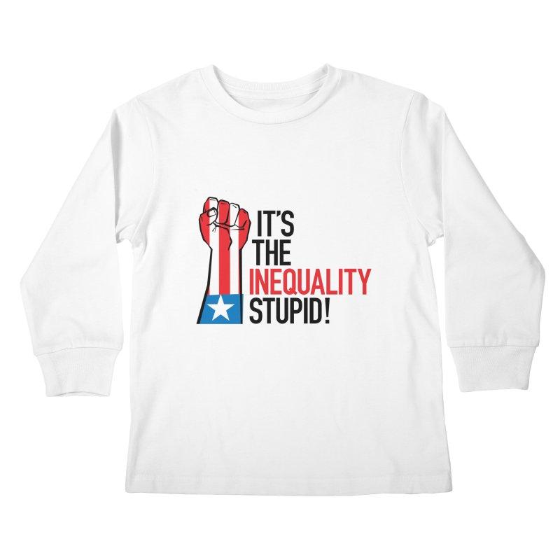 Inequality Kids Longsleeve T-Shirt by mckibillo's Artist Shop