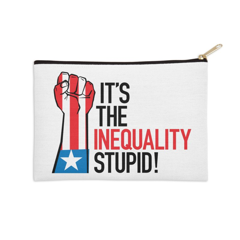 Inequality Accessories Zip Pouch by mckibillo's Artist Shop