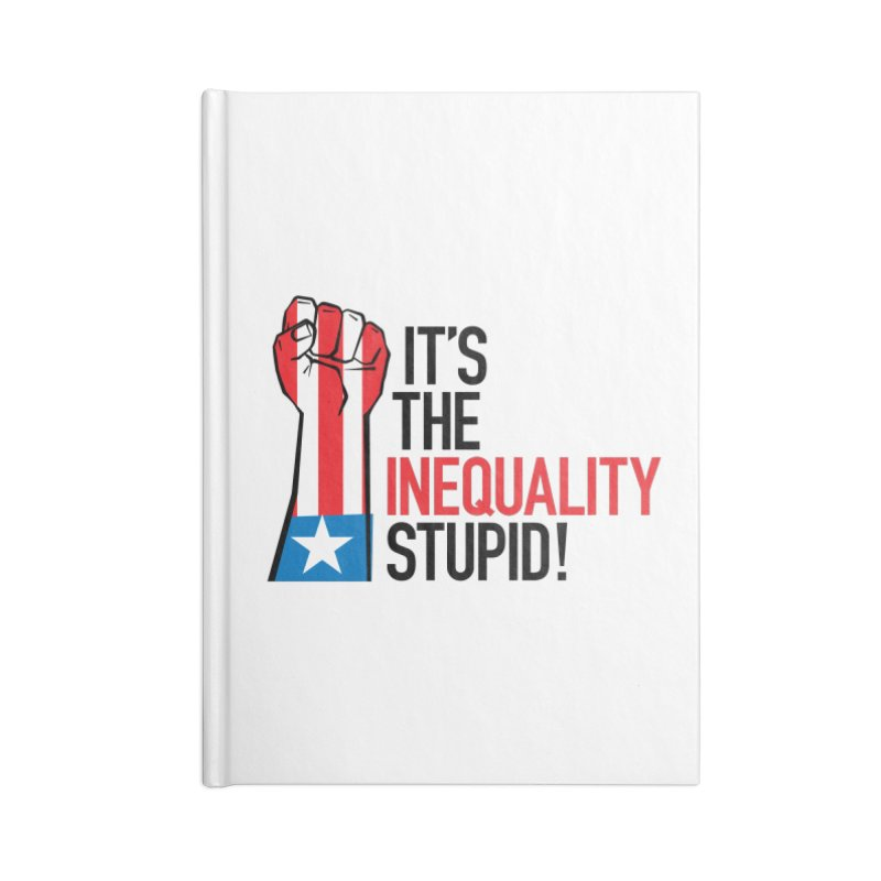 Inequality Accessories Blank Journal Notebook by mckibillo's Artist Shop