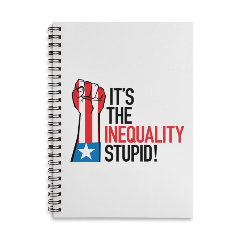 Inequality Accessories Lined Spiral Notebook by mckibillo's Artist Shop