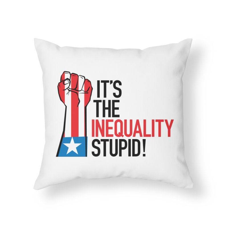 Inequality Home Throw Pillow by mckibillo's Artist Shop