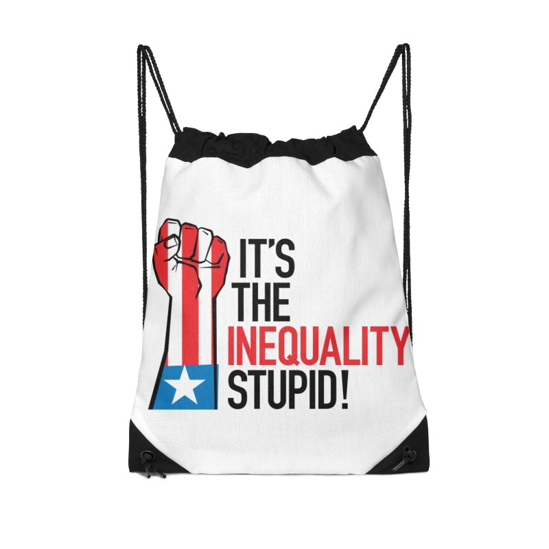 Inequality Accessories Drawstring Bag Bag by mckibillo's Artist Shop