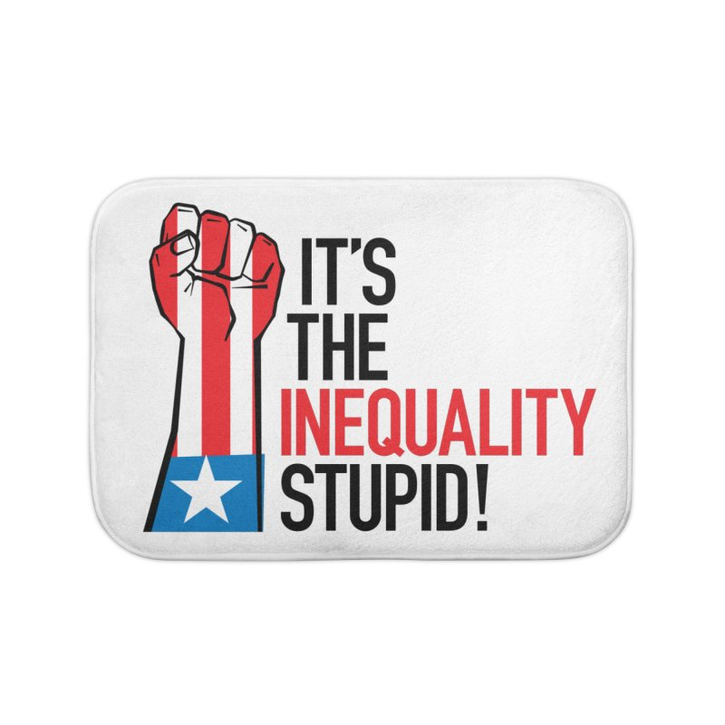 Inequality Home Bath Mat by mckibillo's Artist Shop