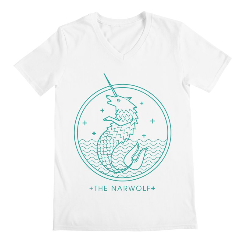The Narwolf Men's V-Neck by mckibillo's Artist Shop