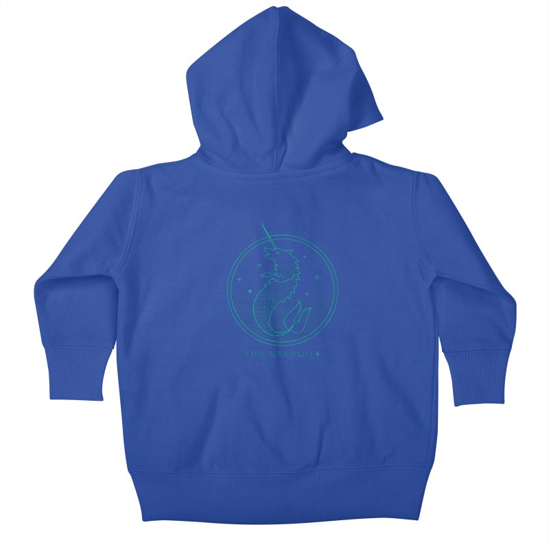 The Narwolf Kids Baby Zip-Up Hoody by mckibillo's Artist Shop