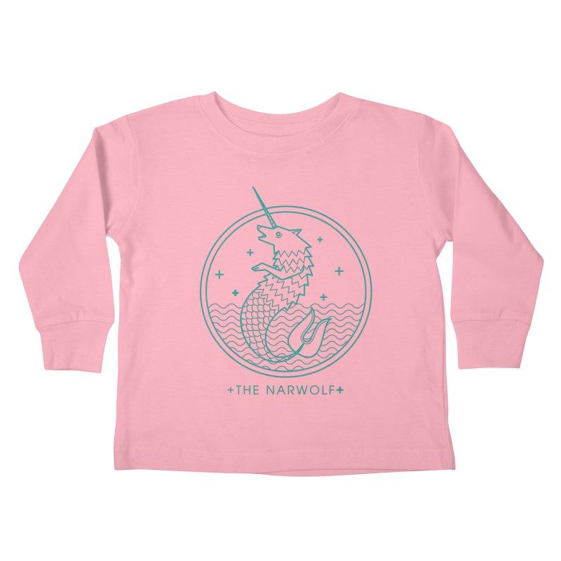 The Narwolf Kids Toddler Longsleeve T-Shirt by mckibillo's Artist Shop