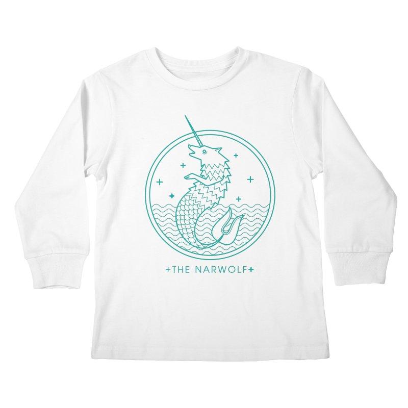 The Narwolf Kids Longsleeve T-Shirt by mckibillo's Artist Shop