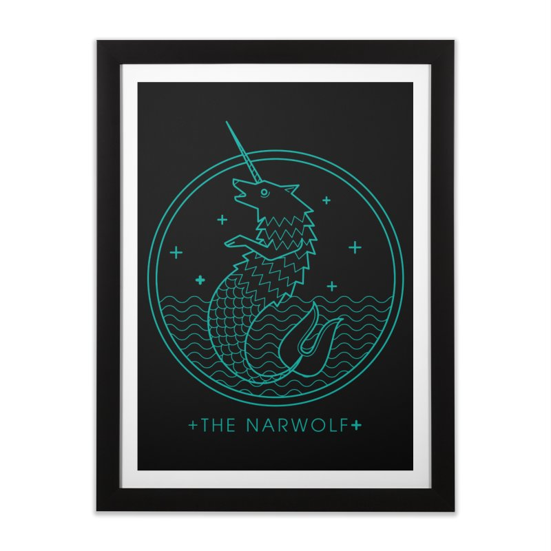 The Narwolf Home Framed Fine Art Print by mckibillo's Artist Shop