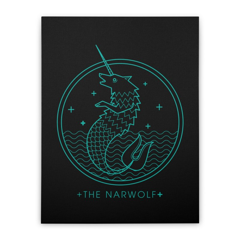 The Narwolf Home Stretched Canvas by mckibillo's Artist Shop