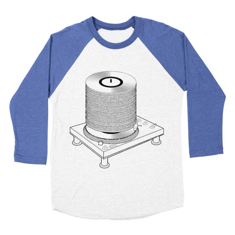 Fat Stack Men's Baseball Triblend Longsleeve T-Shirt by mckibillo's Artist Shop