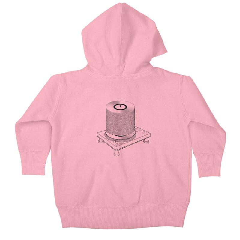 Fat Stack Kids Baby Zip-Up Hoody by mckibillo's Artist Shop
