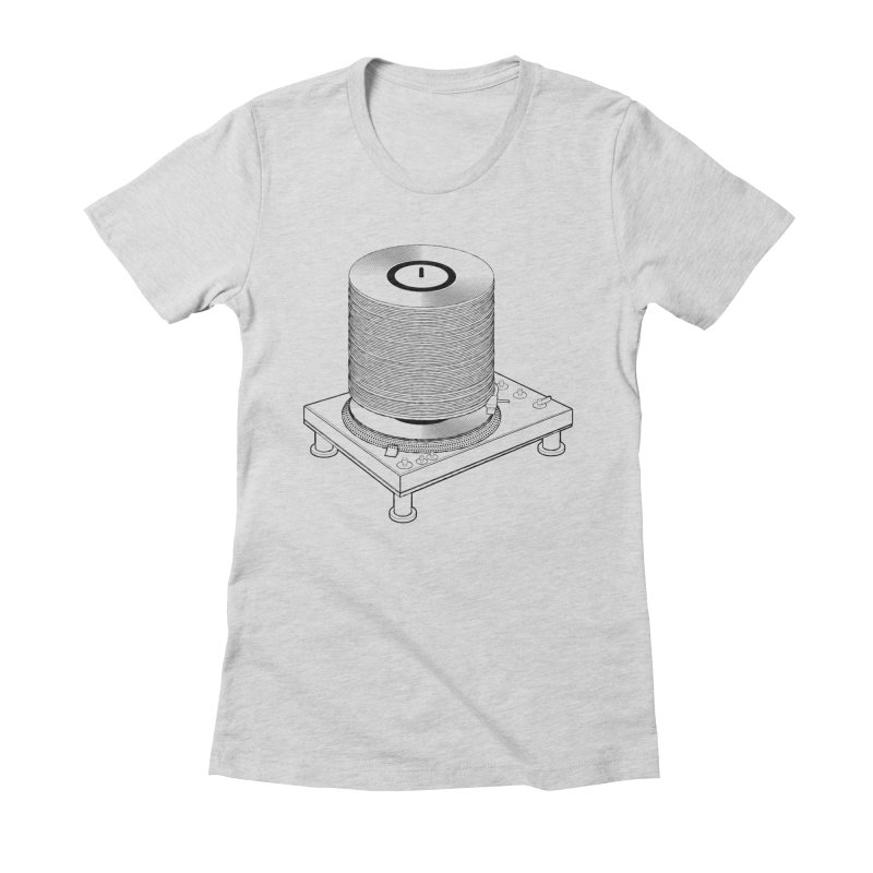 Fat Stack Women's Fitted T-Shirt by mckibillo's Artist Shop