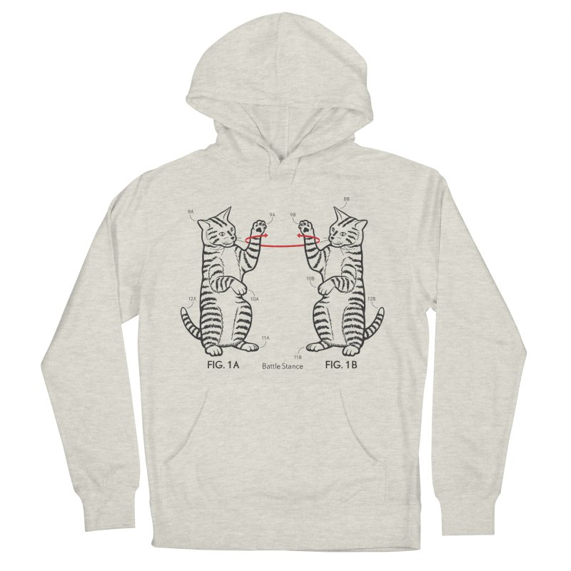 Battle Stance Men's French Terry Pullover Hoody by mckibillo's Artist Shop
