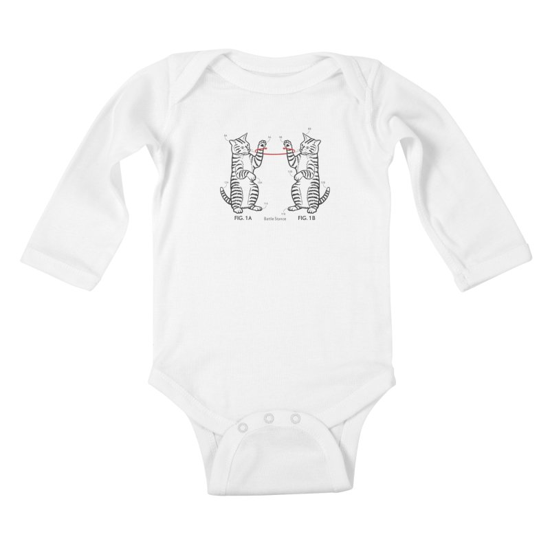 Battle Stance Kids Baby Longsleeve Bodysuit by mckibillo's Artist Shop