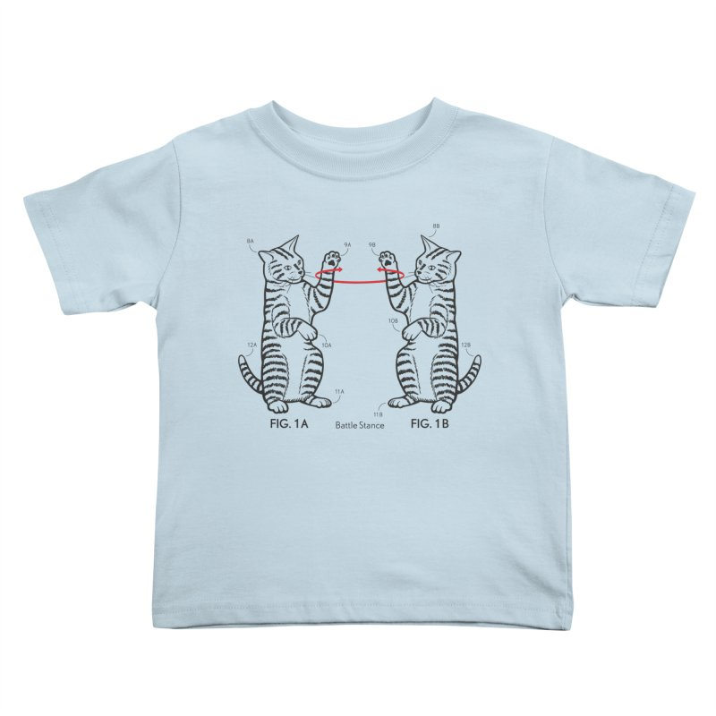 Battle Stance Kids Toddler T-Shirt by mckibillo's Artist Shop