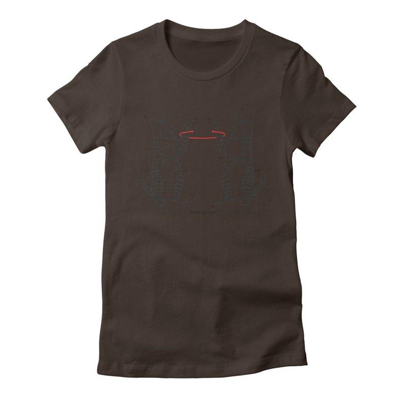 Battle Stance Women's Fitted T-Shirt by mckibillo's Artist Shop