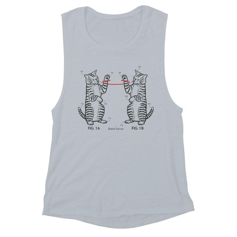 Battle Stance Women's Muscle Tank by mckibillo's Artist Shop