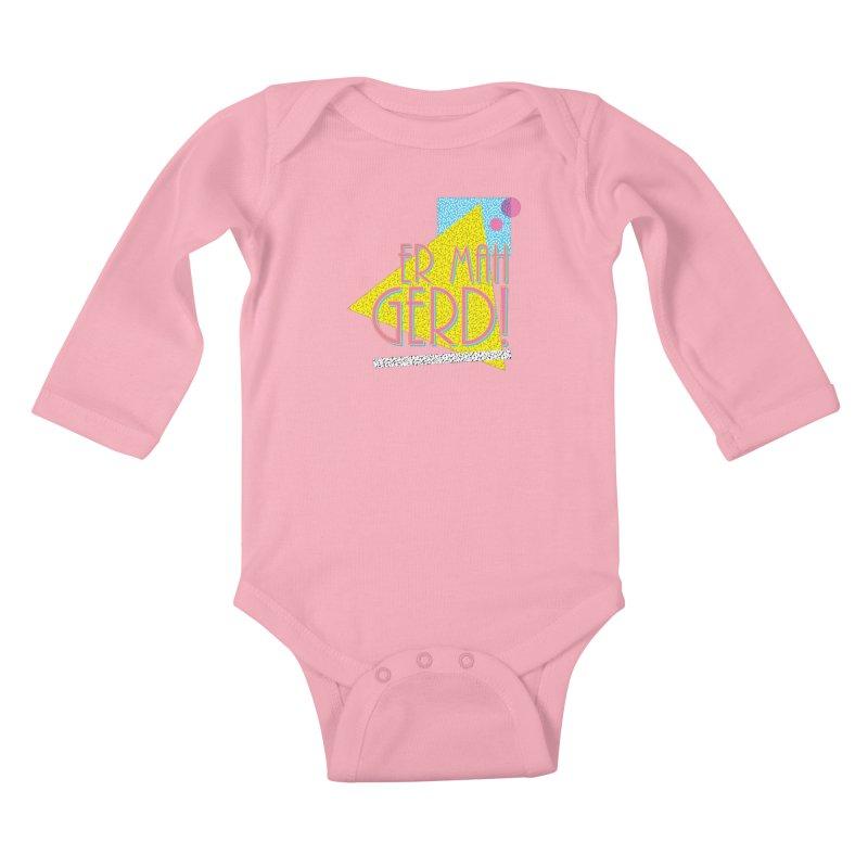 ERMAHGERD! Kids Baby Longsleeve Bodysuit by mckibillo's Artist Shop