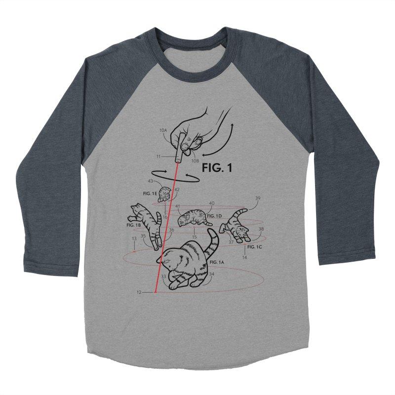 LazerCats! lite Women's Baseball Triblend Longsleeve T-Shirt by mckibillo's Artist Shop