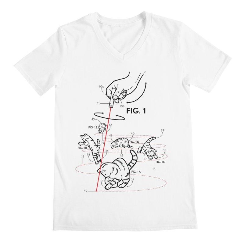 LazerCats! lite Men's V-Neck by mckibillo's Artist Shop
